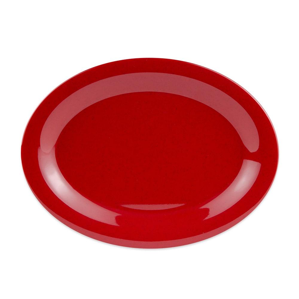 """GET OP-120-RSP Oval Serving Platter, 12"""" x 9"""", Melamine, Red"""