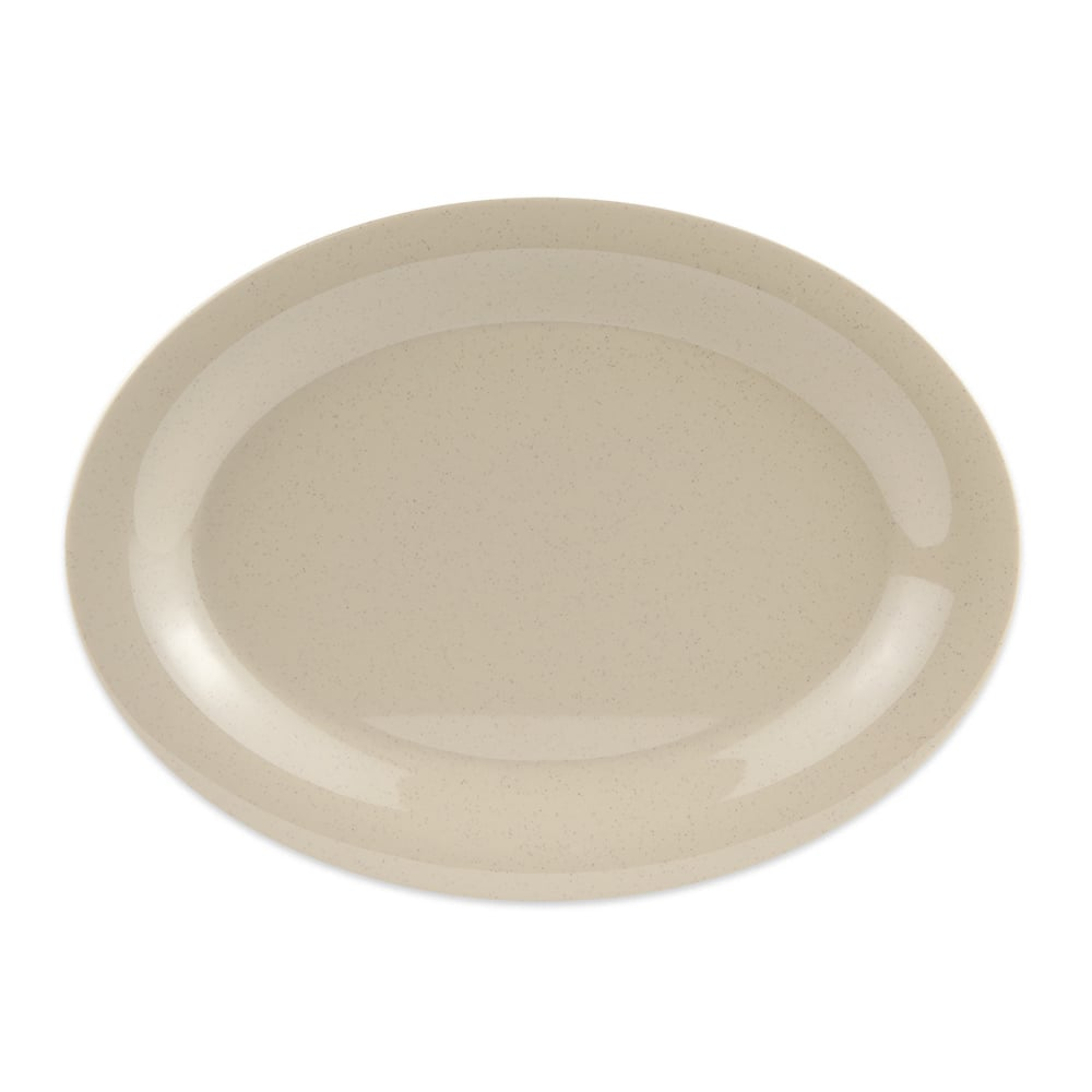 "GET OP-120-S Oval Serving Platter, 12"" x 9"", Melamine, Brown"
