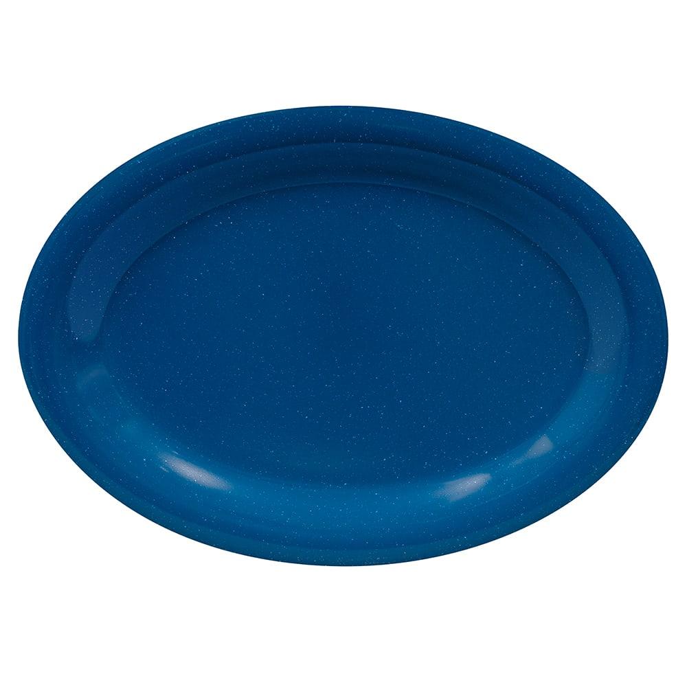 """GET OP-120-TB Oval Serving Platter, 12"""" x 9"""", Melamine, Blue"""