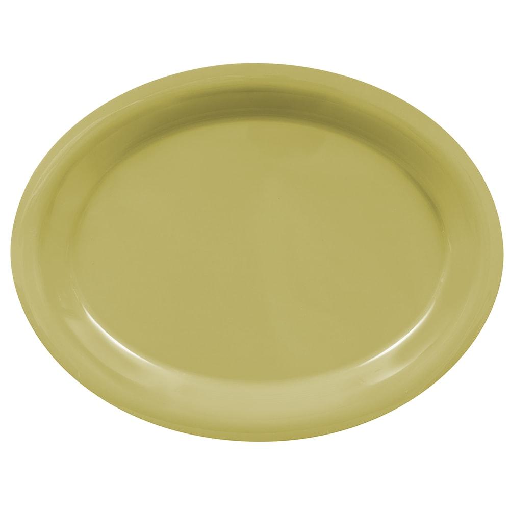 "GET OP-135-AV Oval Serving Platter, 13.5"" x 10.25"", Melamine, Avocado"