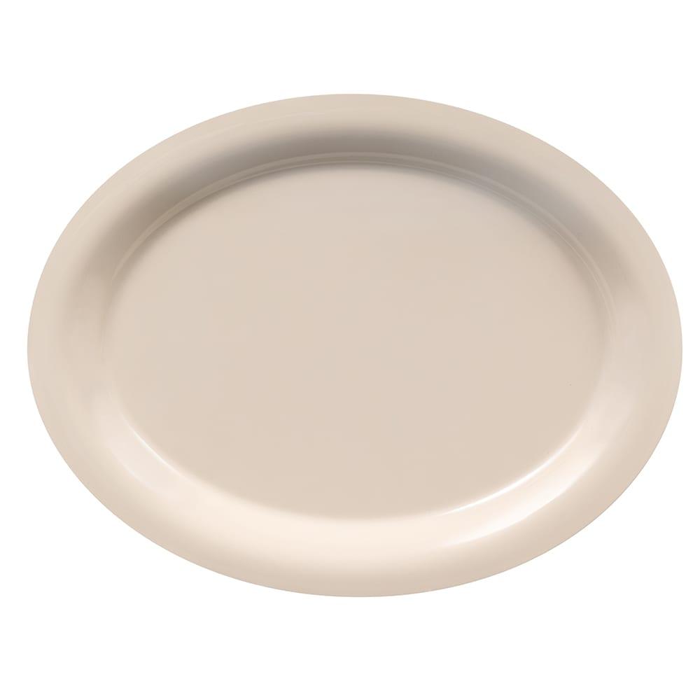 "GET OP-135-DI Oval Serving Platter, 13.5"" x 10.25"", Melamine, Ivory"