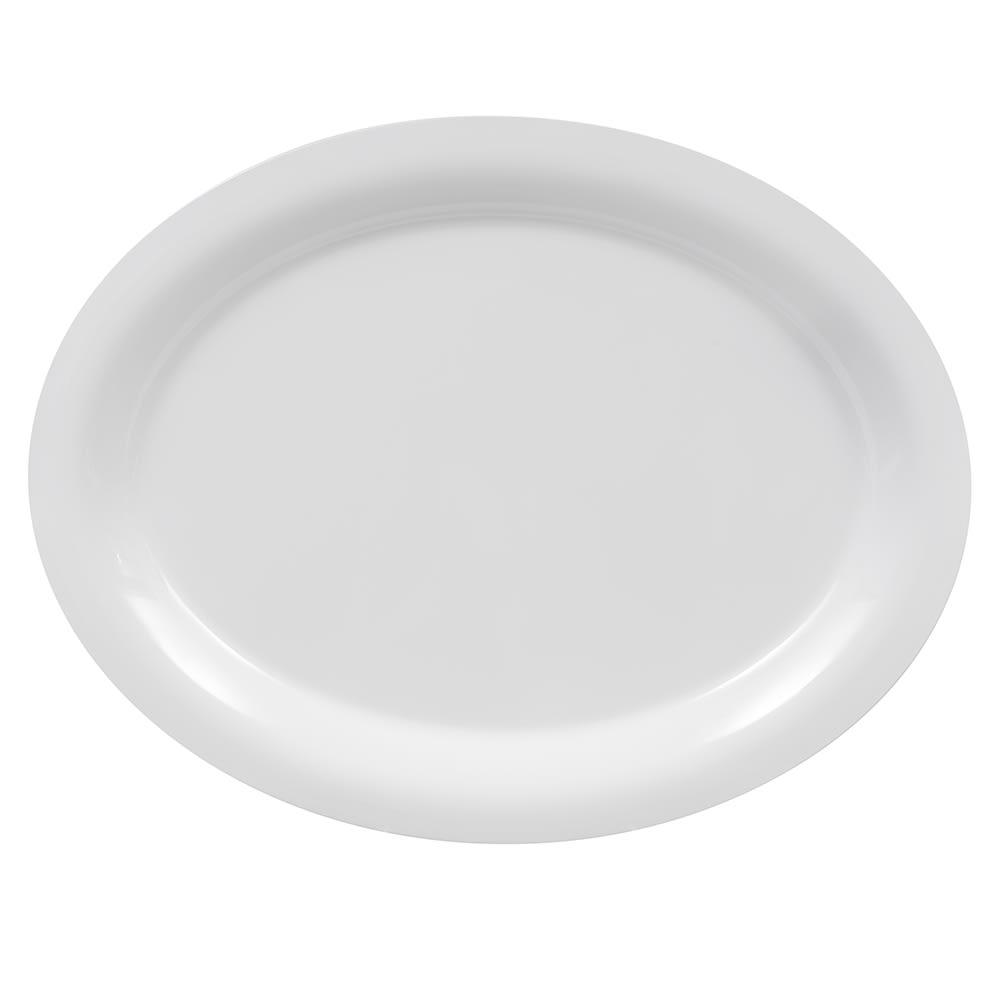 """GET OP-135-DW Oval Serving Platter, 13.5"""" x 10.25"""", Melamine, White"""