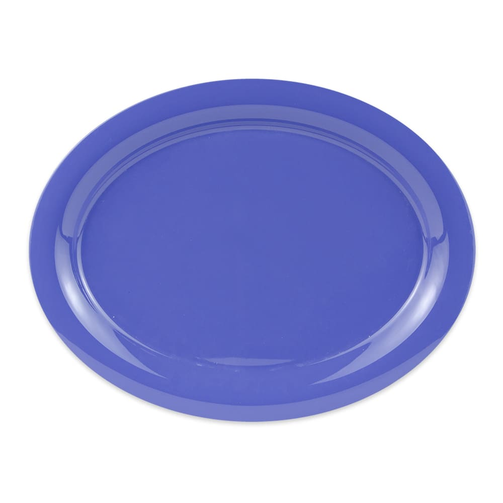 "GET OP-135-PB (4) Oval Serving Platter, 13.5"" x 10.25"", Melamine, Blue"