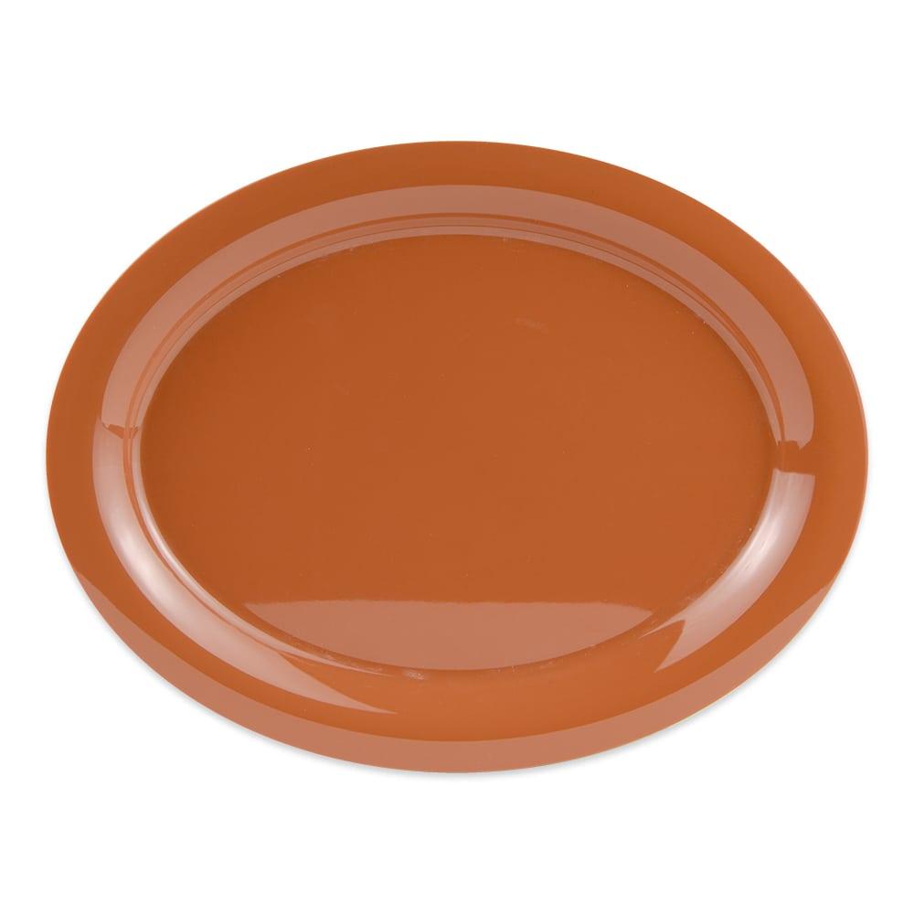 """GET OP-135-PK (4) Oval Serving Platter, 13.5"""" x 10.25"""", Melamine, Pumpkin"""