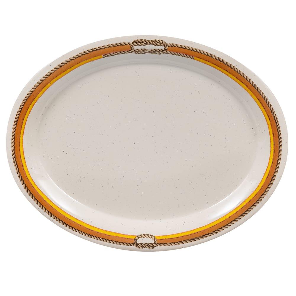 """GET OP-135-RD (4) Oval Serving Platter, 13.5"""" x 10.25"""", Melamine, Brown"""