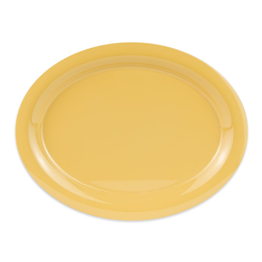 "GET OP-135-TY (4) Oval Serving Platter, 13.5"" x 10.25"", Melamine, Yellow"