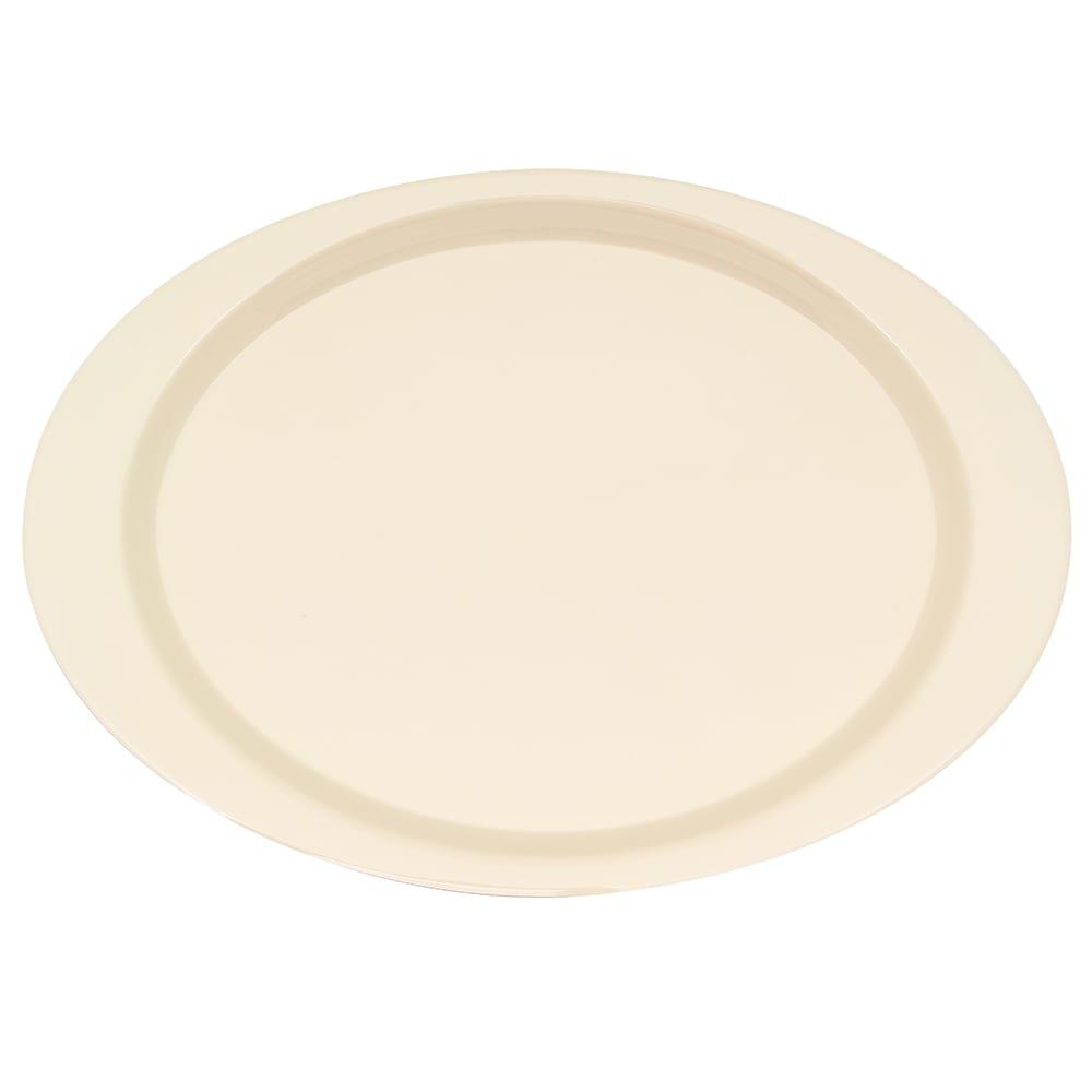 "GET OP-145-DI Oval Serving Platter, 14.75"" x 10.5"", Melamine, Ivory"
