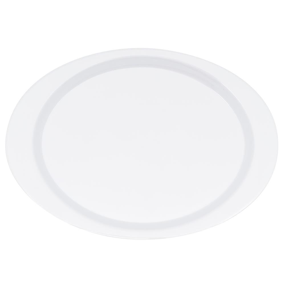 """GET OP-145-DW Oval Serving Platter, 14.75"""" x 10.5"""", Melamine, White"""
