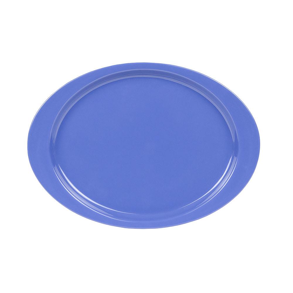 """GET OP-145-PB Oval Serving Platter, 14.75"""" x 10.5"""", Melamine, Blue"""