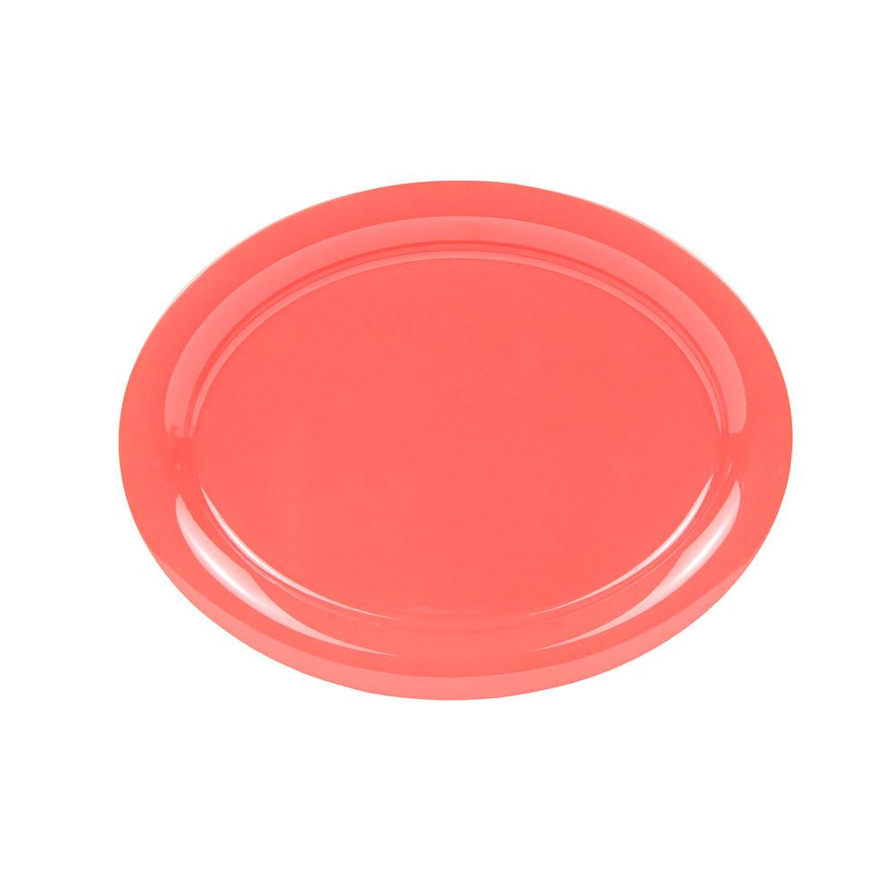 "GET OP-145-RO Oval Serving Platter, 14.75"" x 10.5"", Melamine, Orange"