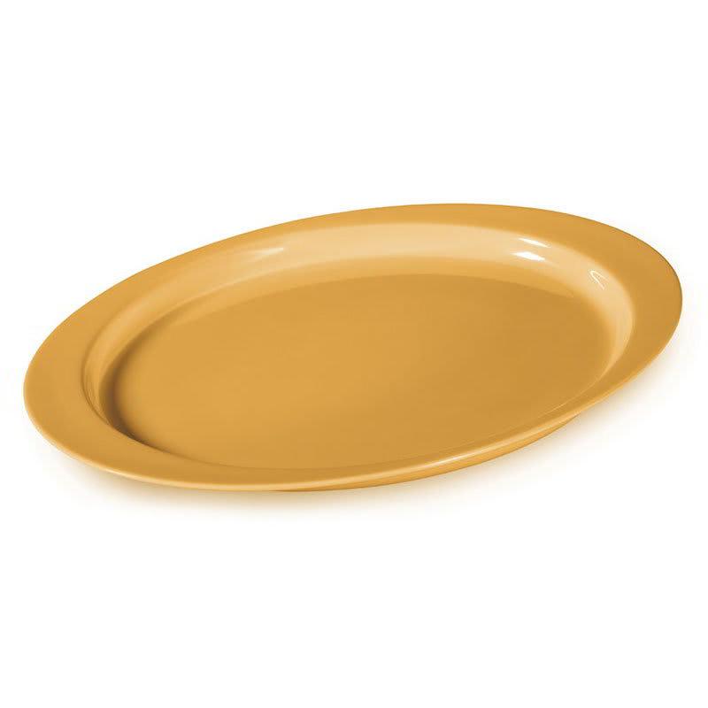 "GET OP-145-TY Oval Serving Platter, 14.75"" x 10.5"", Melamine, Yellow"