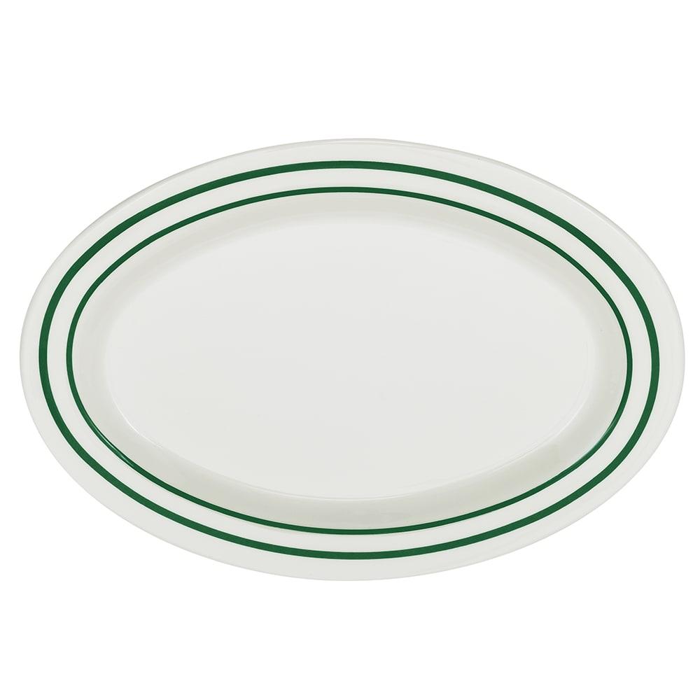 """GET OP-215-EM Oval Serving Platter, 11.5"""" x 8"""", Melamine, White"""