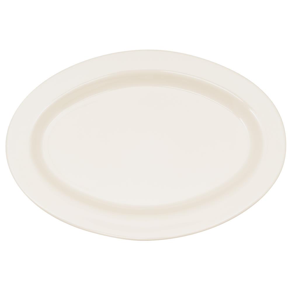 """GET OP-215-IV Oval Serving Platter, 11.5"""" x 8"""", Melamine, Ivory"""