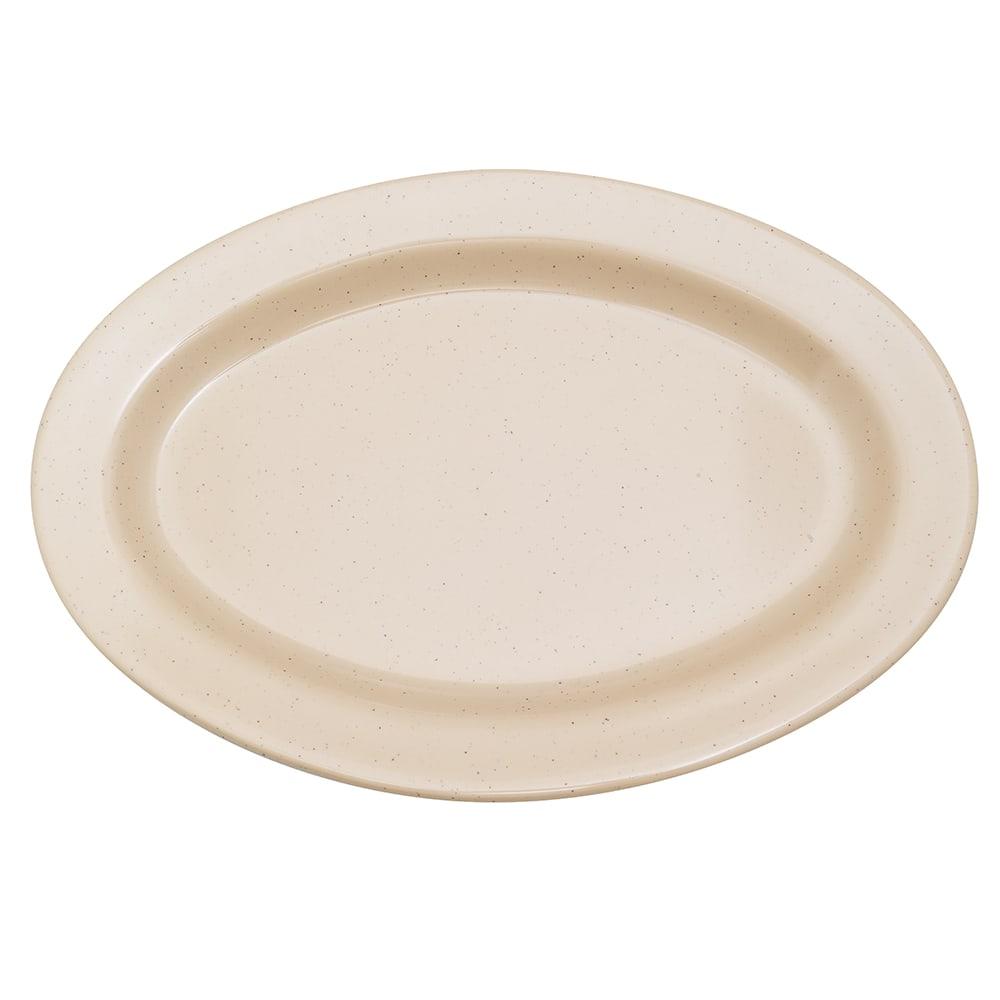 """GET OP-215-S Oval Serving Platter, 11.5"""" x 8"""", Melamine, Sandstone"""