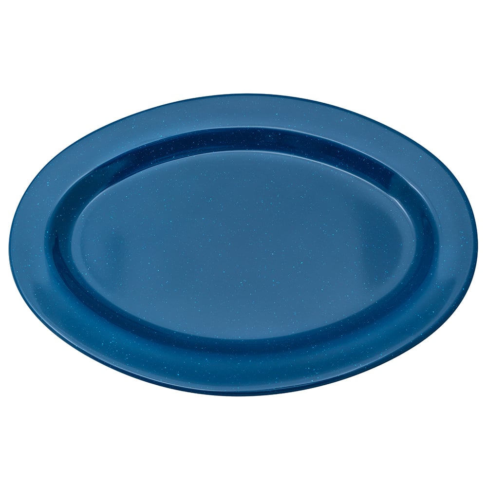 "GET OP-215-TB Oval Serving Platter, 11.5"" x 8"", Melamine, Blue"