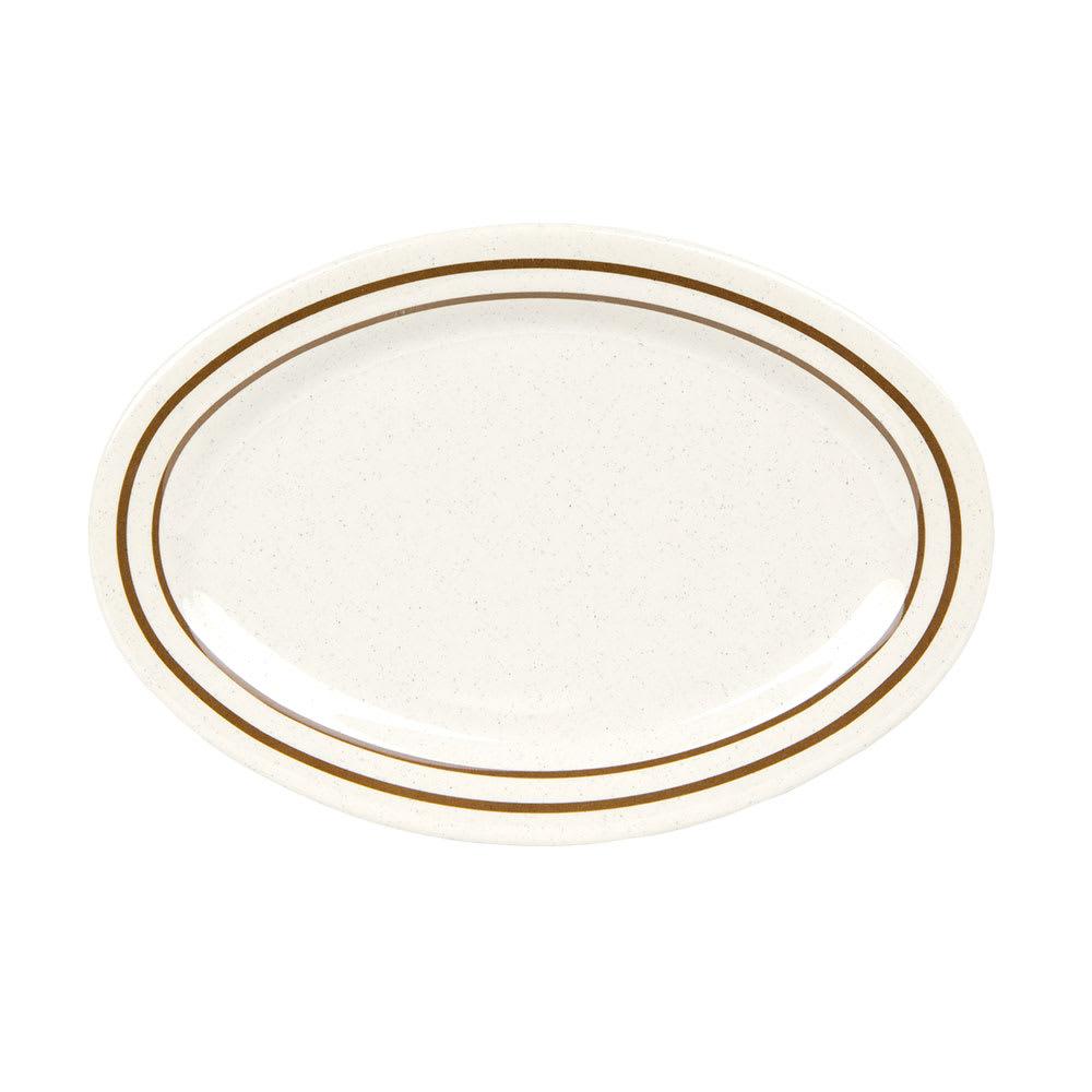 """GET OP-215-U Oval Serving Platter, 11.5"""" x 8"""", Melamine, White"""
