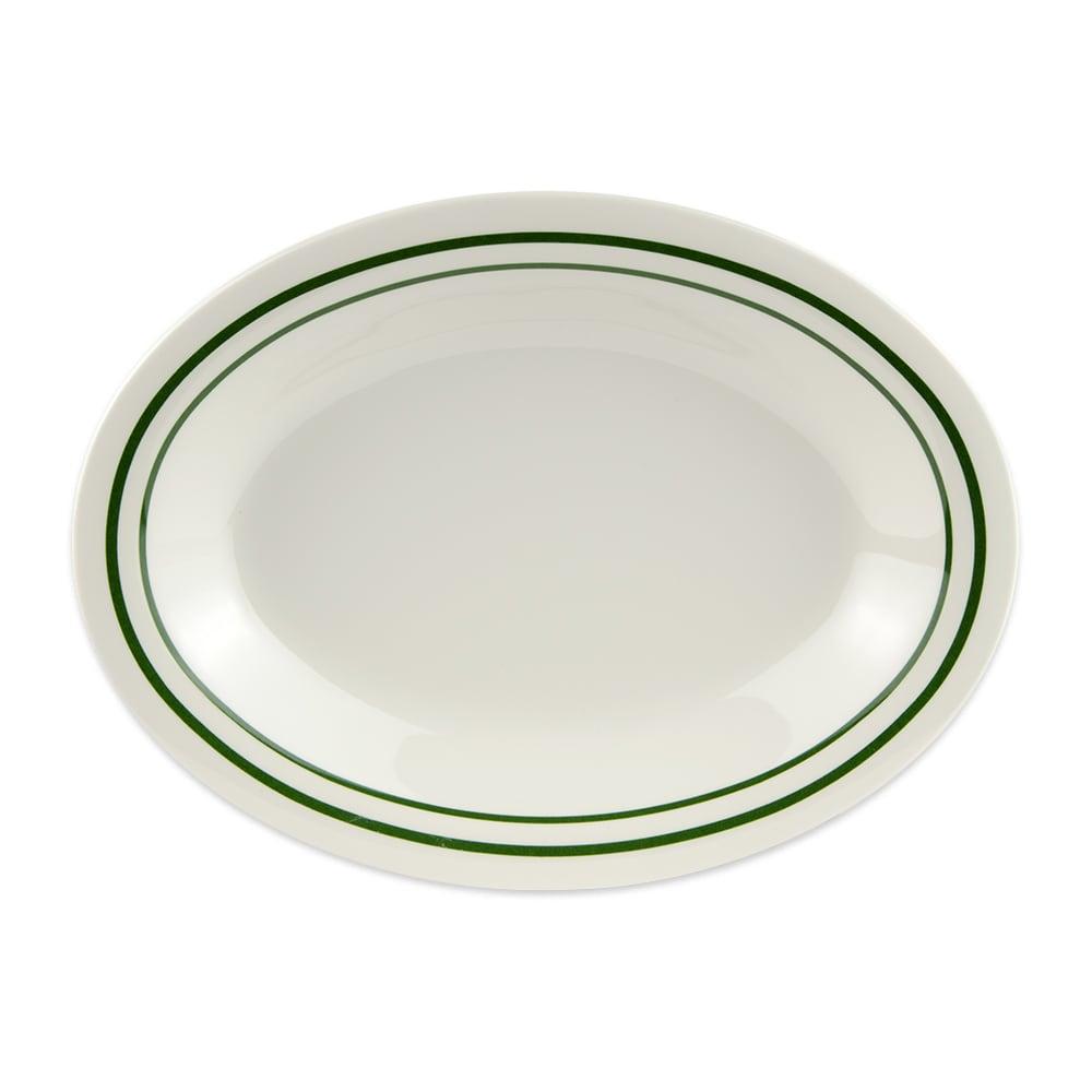 """GET OP-220-EM Oval Serving Platter, 12"""" x 9"""", Melamine, White"""