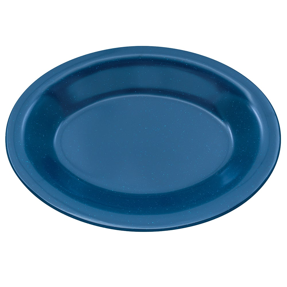 "GET OP-220-TB Oval Serving Platter, 12"" x 9"", Melamine, Blue"
