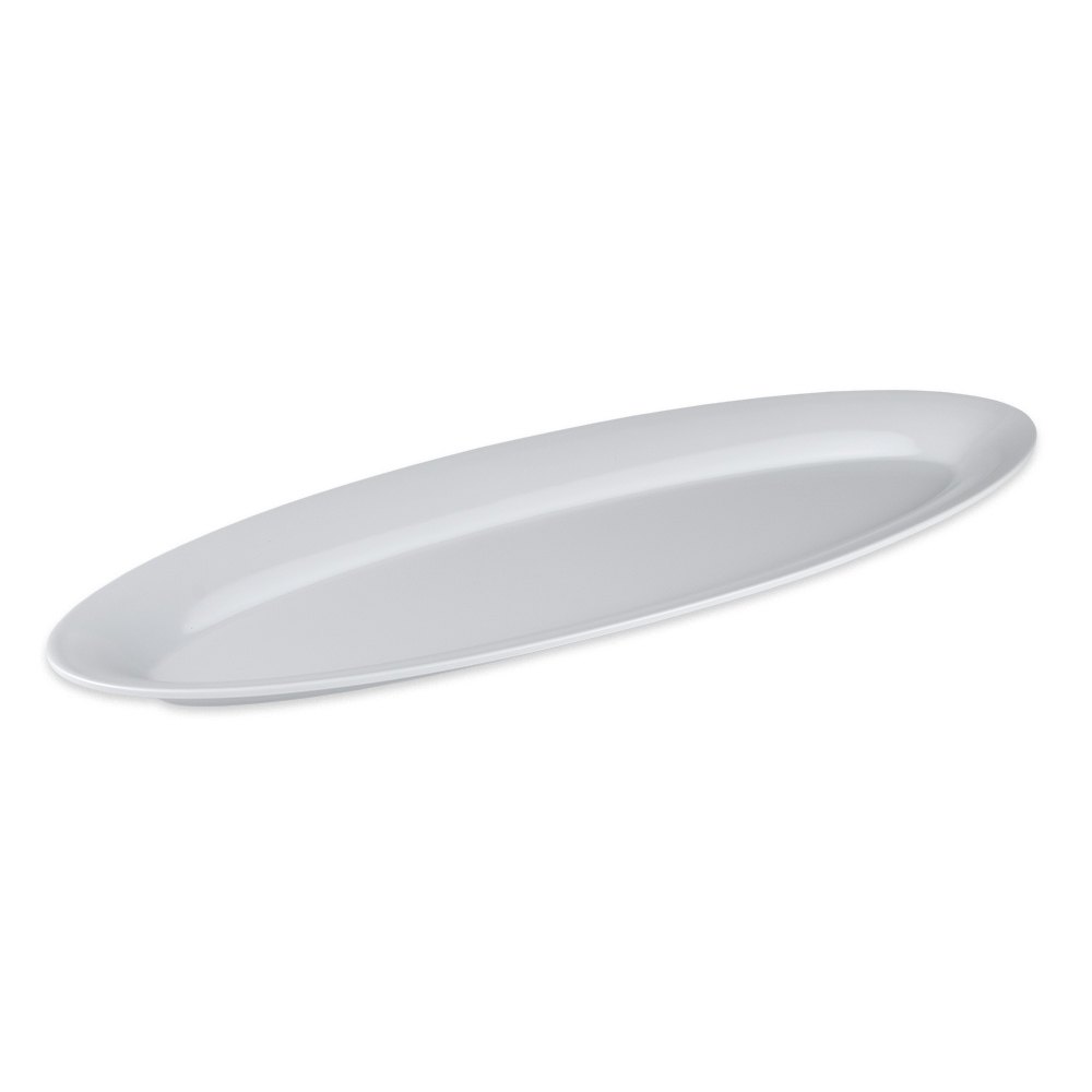 "GET OP-2280-W Oval Serving Platter, 22.5"" x 8"", Melamine, White"