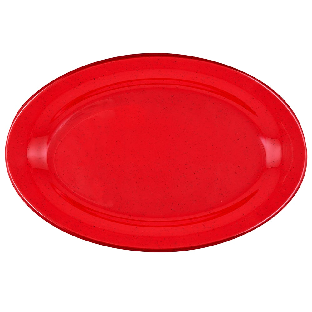 "GET OP-320-RSP Oval Serving Platter, 11.25"" x 8.5"", Melamine, Red"