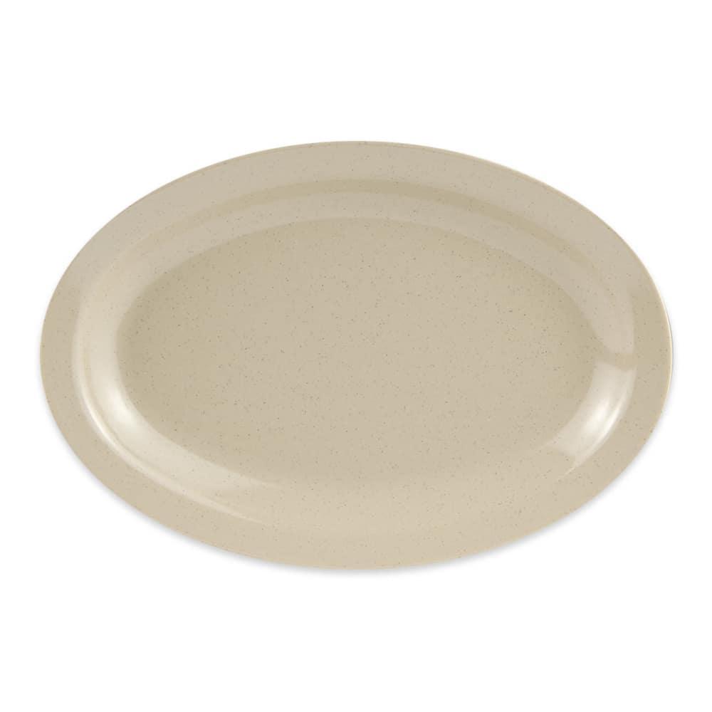 """GET OP-610-S Oval Serving Platter, 10"""" x 6.75"""", Melamine, Sandstone"""
