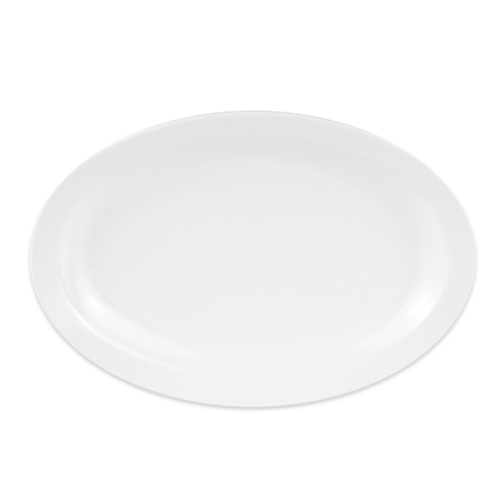 "GET OP-610-W Oval Serving Platter, 10"" x 6.75"", Melamine, White"