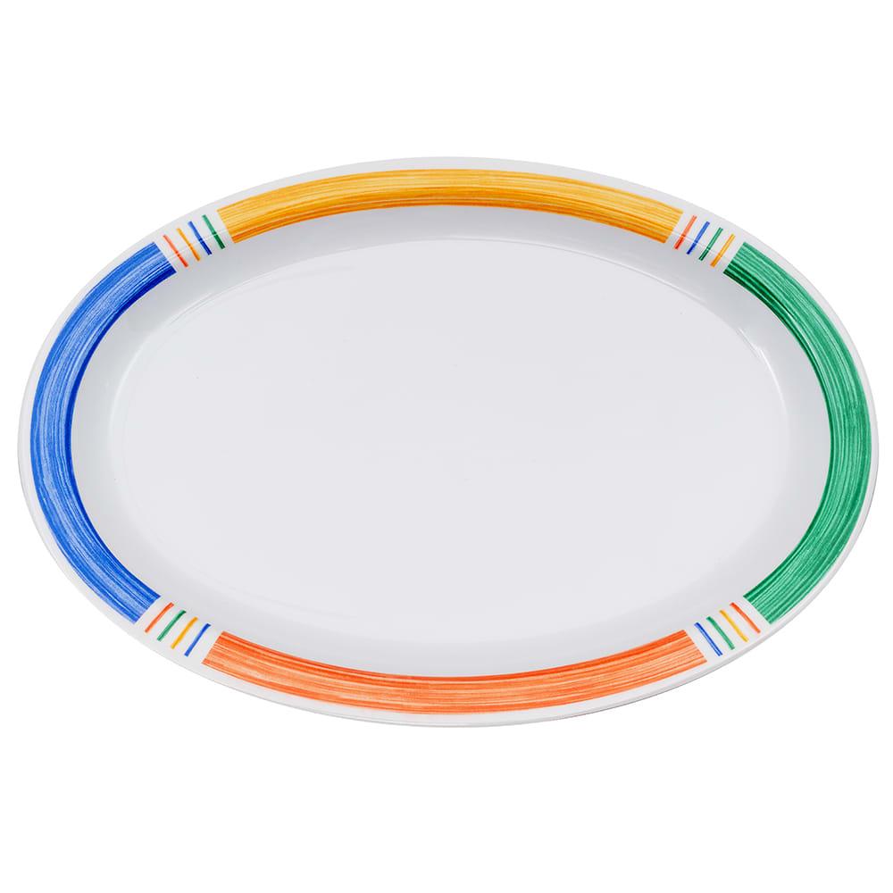 """GET OP-612-BA Oval Serving Platter, 11.75"""" x 8.25"""", Melamine, White"""
