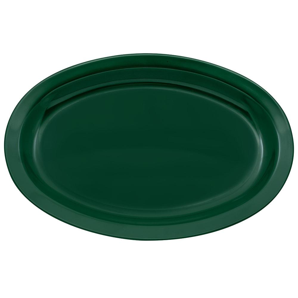 """GET OP-612-HG Oval Serving Platter, 11.75"""" x 8.25"""", Melamine, Green"""