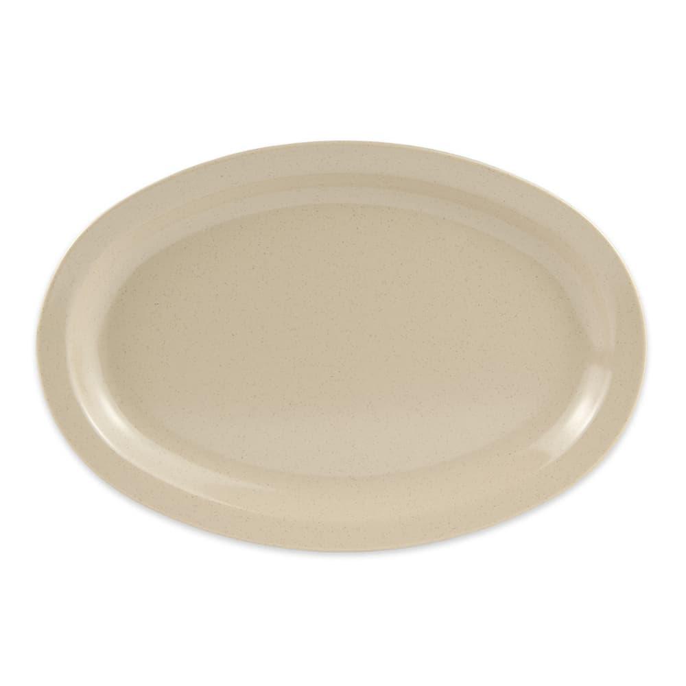"""GET OP-612-S (4) Oval Serving Platter, 11.75"""" x 8.25"""", Melamine, Sandstone"""