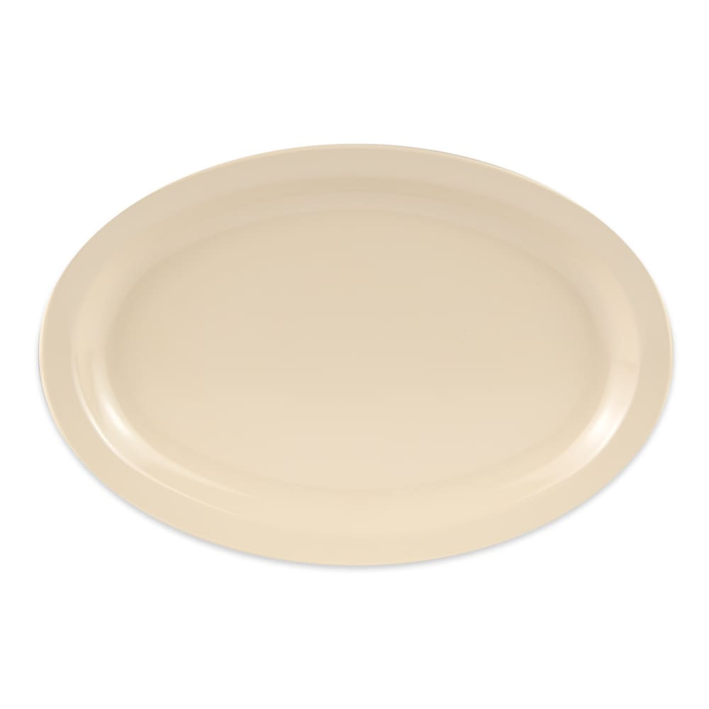 "GET OP-612-T (4) Oval Serving Platter, 11.75"" x 8.25"", Melamine, Tan"