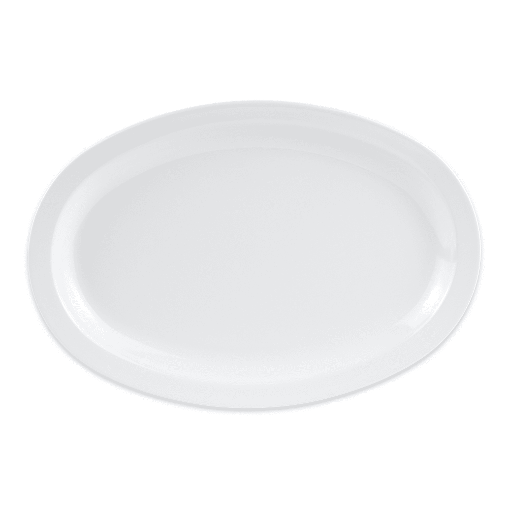 "GET OP-612-W (4) Oval Serving Platter, 11.75"" x 8.25"", Melamine, White"