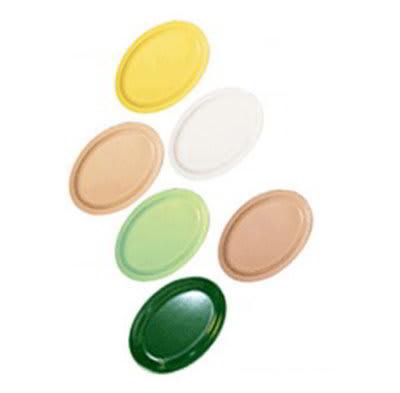 "GET OP-612-Y 11-5/8""x 8-1/8""Oval Platter, Yellow, Melamine, Supermel"