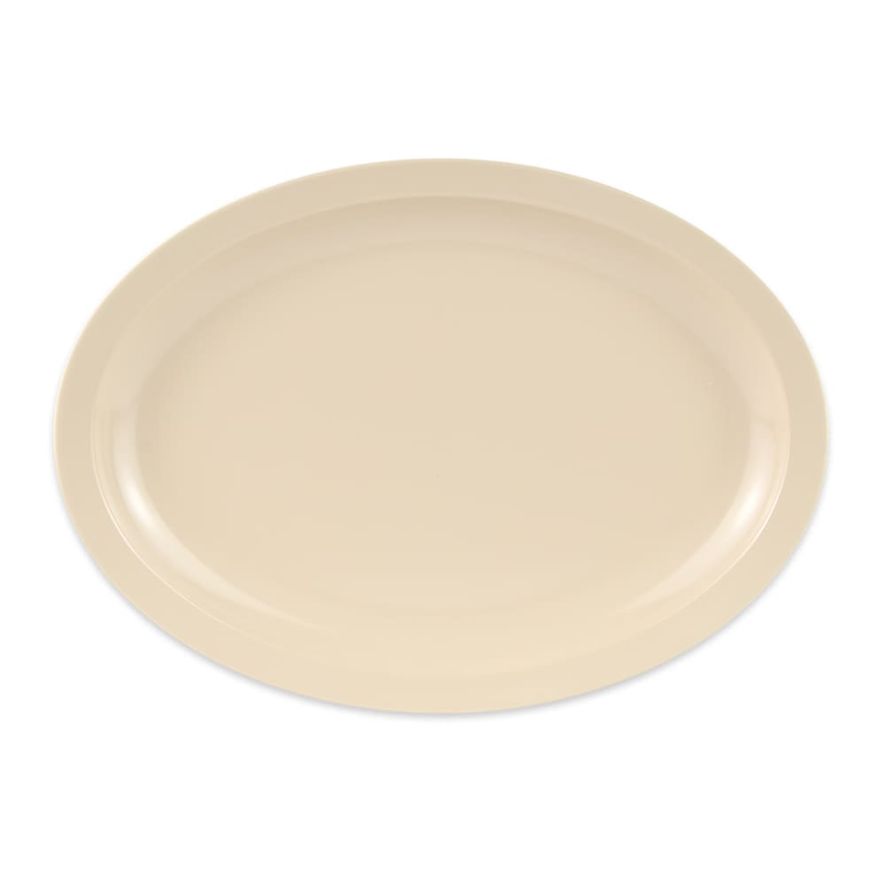 "GET OP-614-T Oval Serving Platter, 13.25"" x 9.75"", Melamine, Tan"