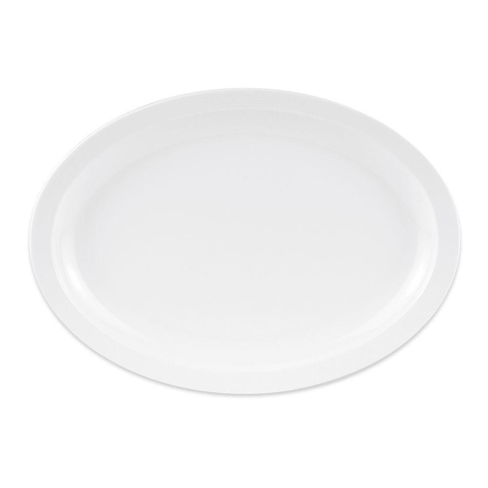 "GET OP-614-W Oval Serving Platter, 13.25"" x 9.75"", Melamine, White"