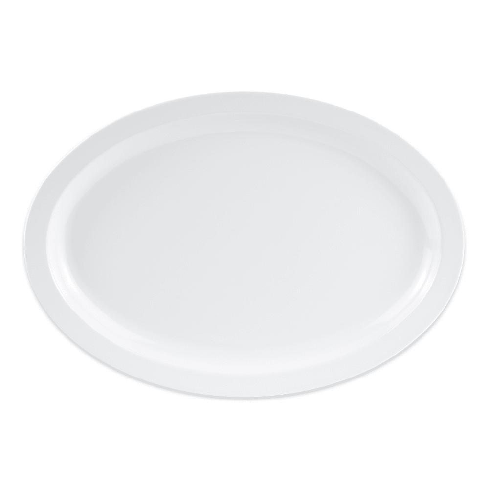 "GET OP-616-W Oval Serving Platter, 15.75"" x 11"", Melamine, White"