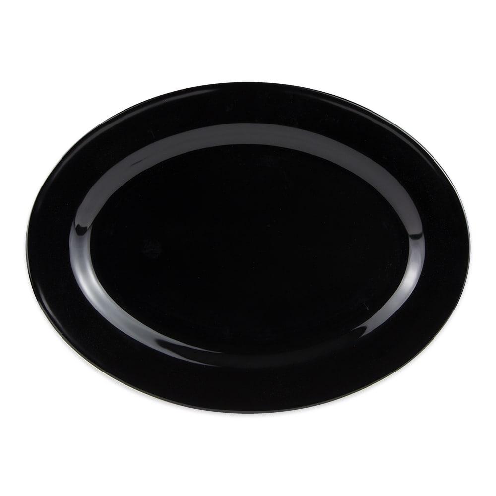 """GET OP-618-BK Oval Serving Platter, 18"""" x 13.5"""", Melamine, Black"""