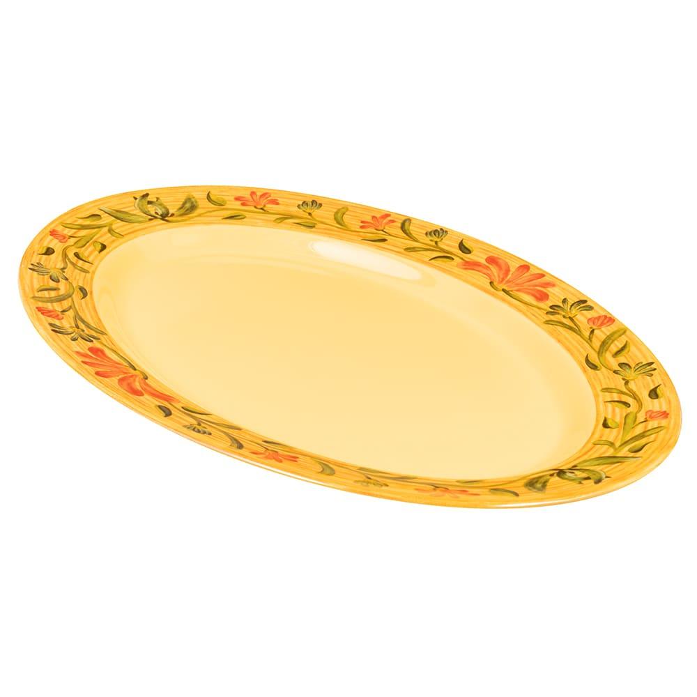 """GET OP-618-VN Oval Serving Platter, 18"""" x 13.5"""", Melamine, Yellow"""