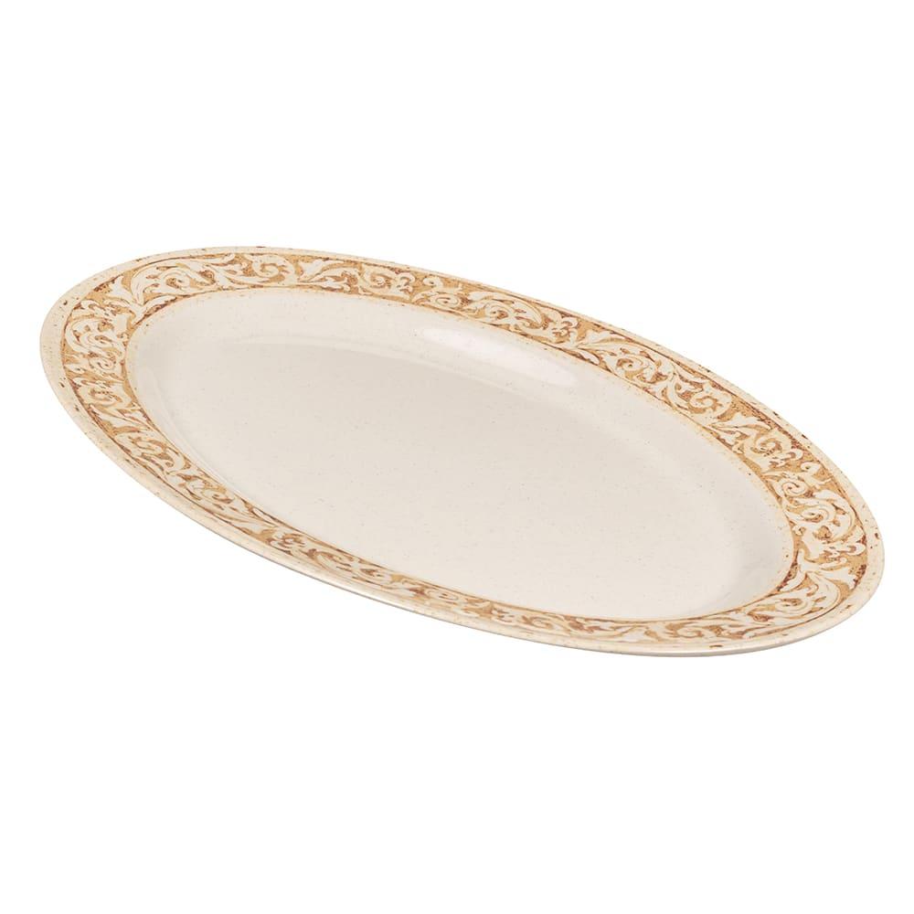 """GET OP-621-OL Oval Serving Platter, 21"""" x 15"""", Melamine, Brown"""