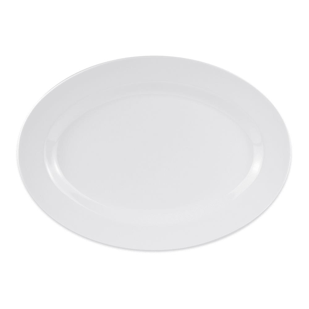 "GET OP-621-W Oval Serving Platter, 21"" x 15"", Melamine, White"