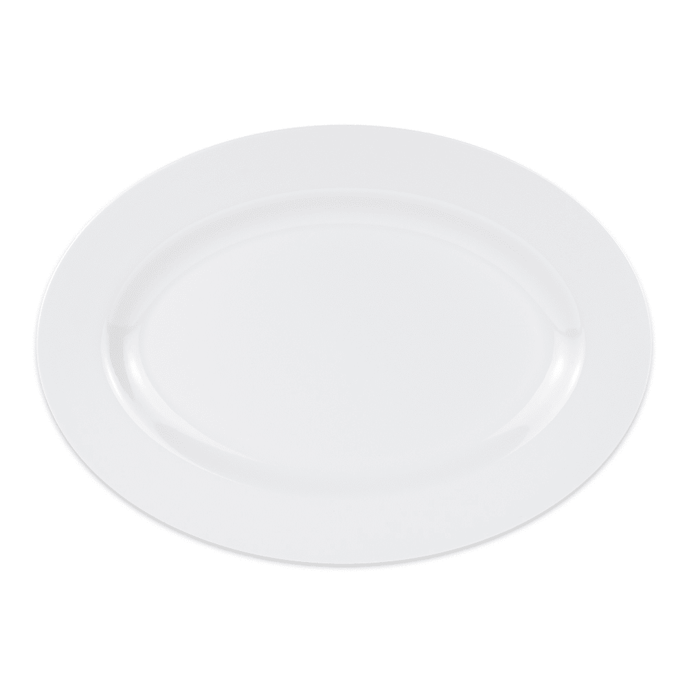 "GET OP-624-W Oval Serving Platter, 23.25"" x 16.75"", Melamine, White"