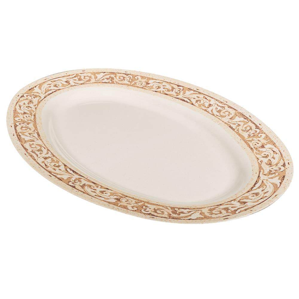 """GET OP-630-OL Oval Serving Platter, 30"""" x 20.25"""", Melamine, Brown"""