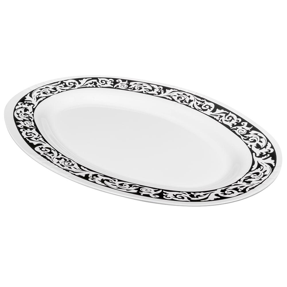 "GET OP-630-SO Oval Serving Platter, 30"" x 20.25"", Melamine, White"