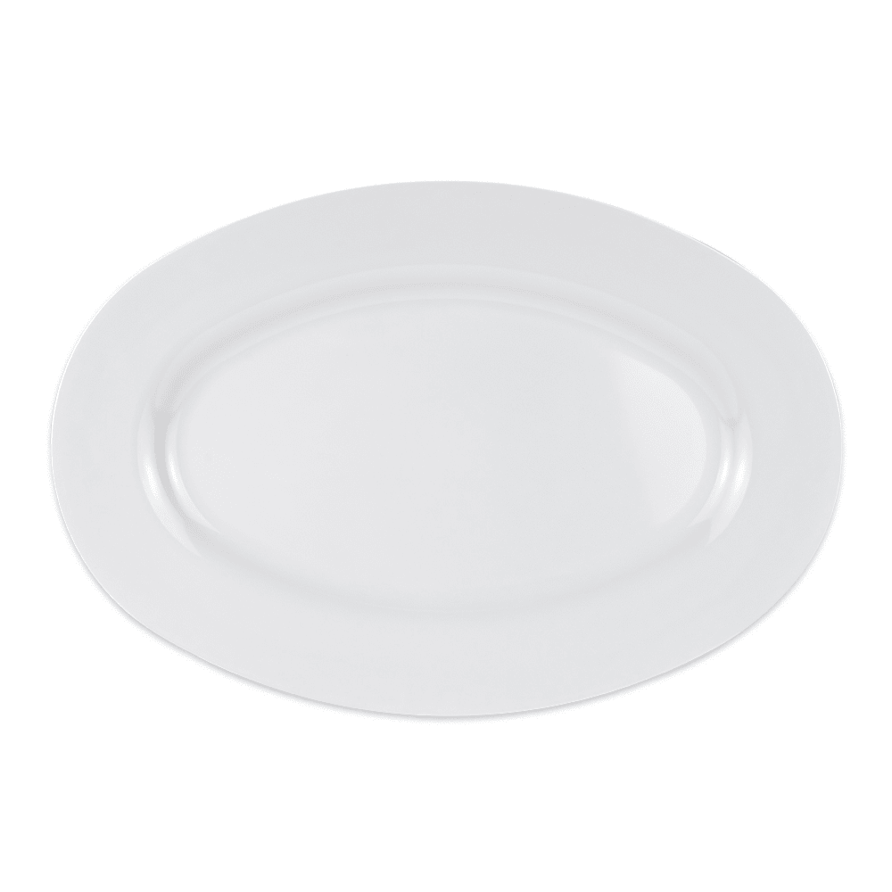 "GET OP-630-W Oval Serving Platter, 30"" x 20.25"", Melamine, White"