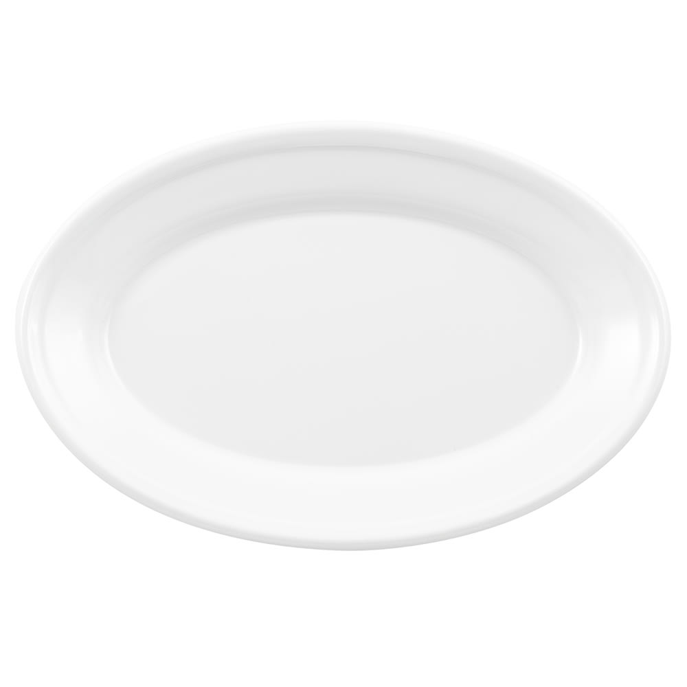 "GET OP-911-W Oval Serving Platter, 9.25"" x 6.25"", Melamine, White"