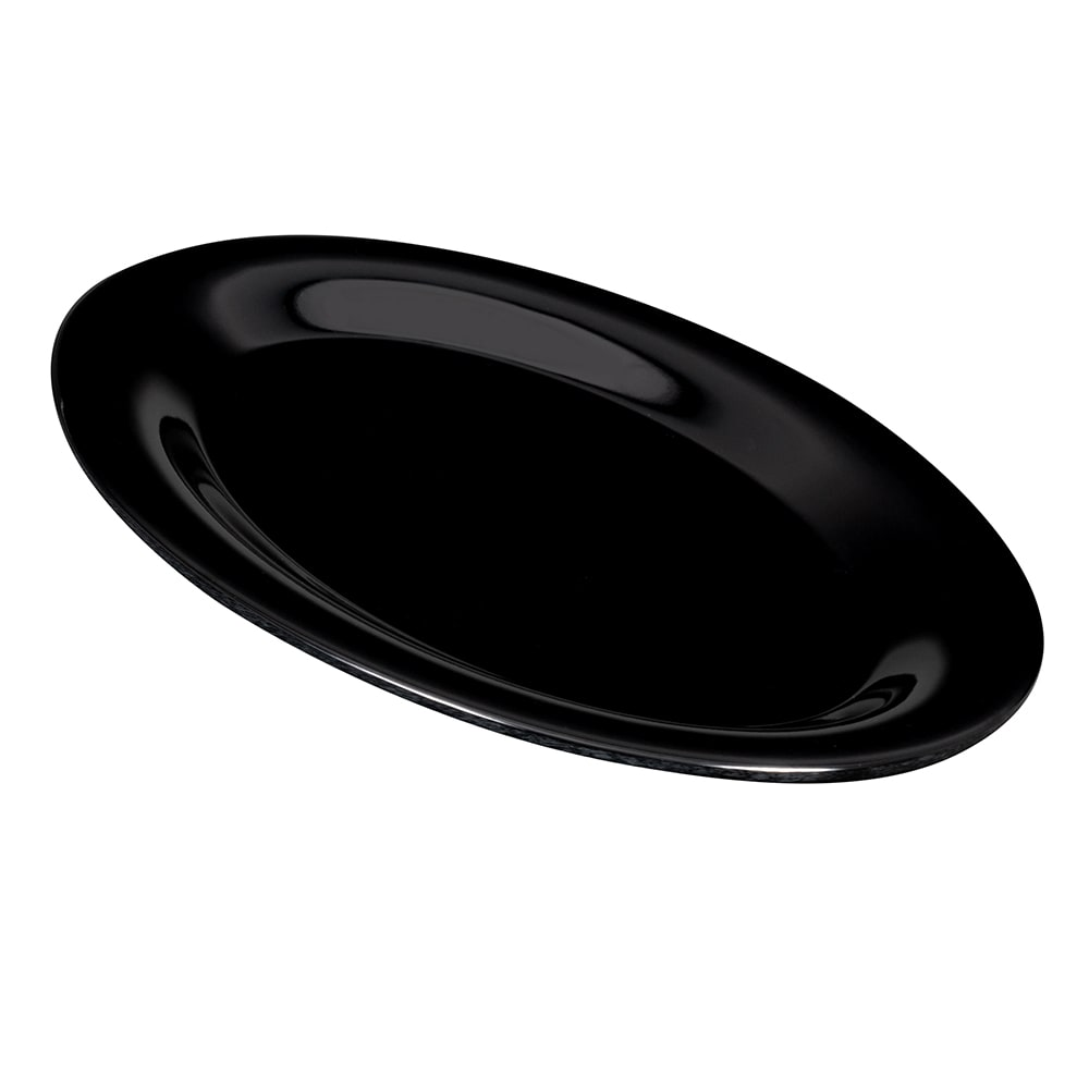 "GET OP-950-BK Oval Serving Platter, 9.75"" x 7.25"", Melamine, Black"