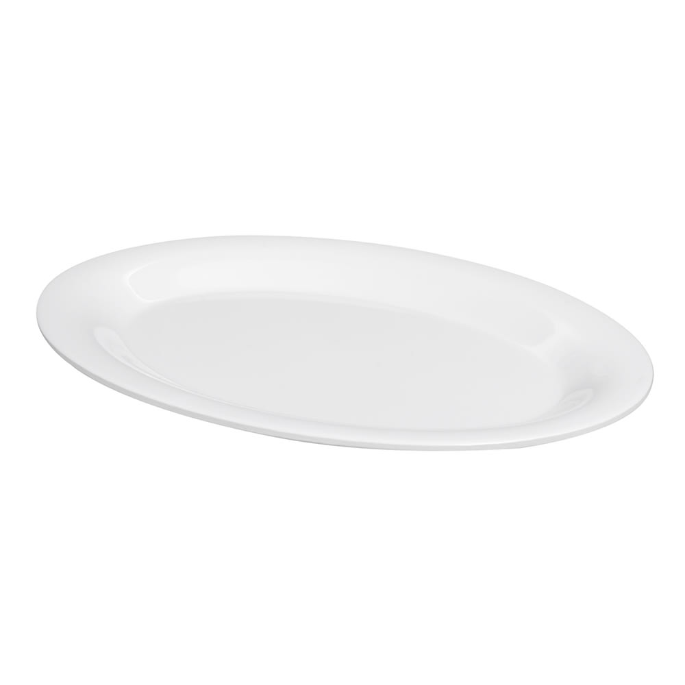 """GET OP-950-DW Oval Serving Platter, 9.75"""" x 7.25"""", Melamine, White"""