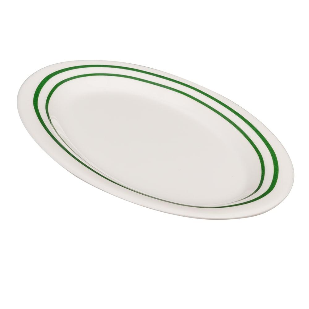 """GET OP-950-EM Oval Serving Platter, 9.75"""" x 7.25"""", Melamine, White"""