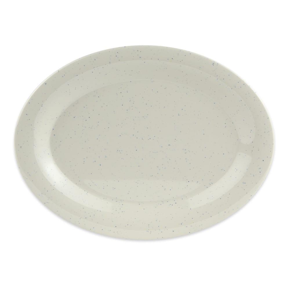 "GET OP-950-IR Oval Serving Platter, 9.75"" x 7.25"", Melamine, White"
