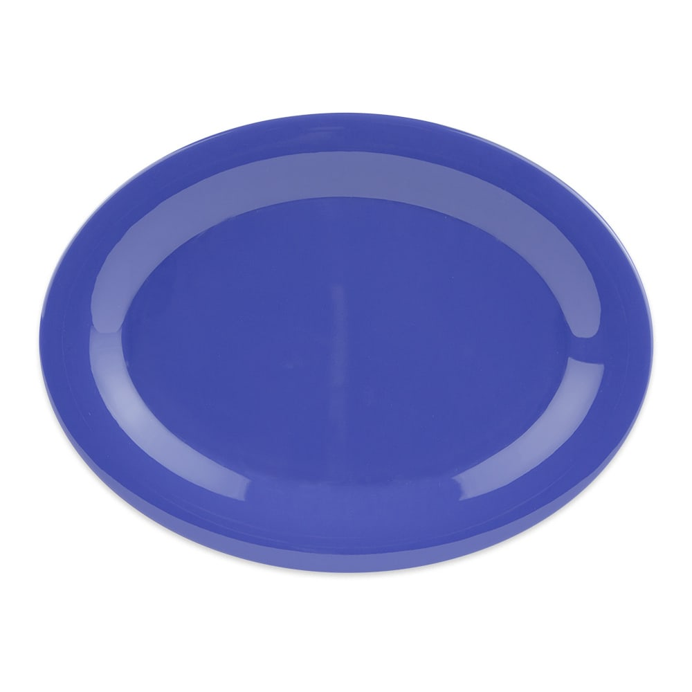 "GET OP-950-PB Oval Serving Platter, 9.75"" x 7.25"", Melamine, Blue"