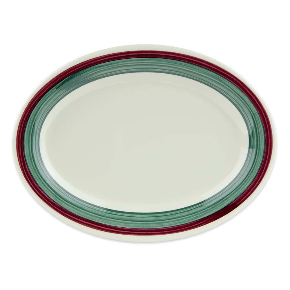 "GET OP-950-PO Oval Serving Platter, 9.75"" x 7.25"", Melamine, White"